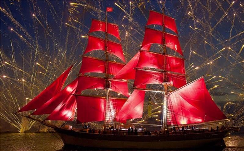 Red Sails - Diamond Painting Kit