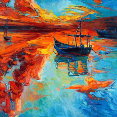 Sailing Boat - Diamond Painting Kit