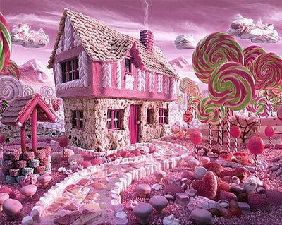 Candy House - Diamond Painting Kit