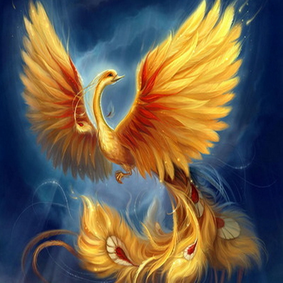 Golden Phoenix - Diamond Painting Kit