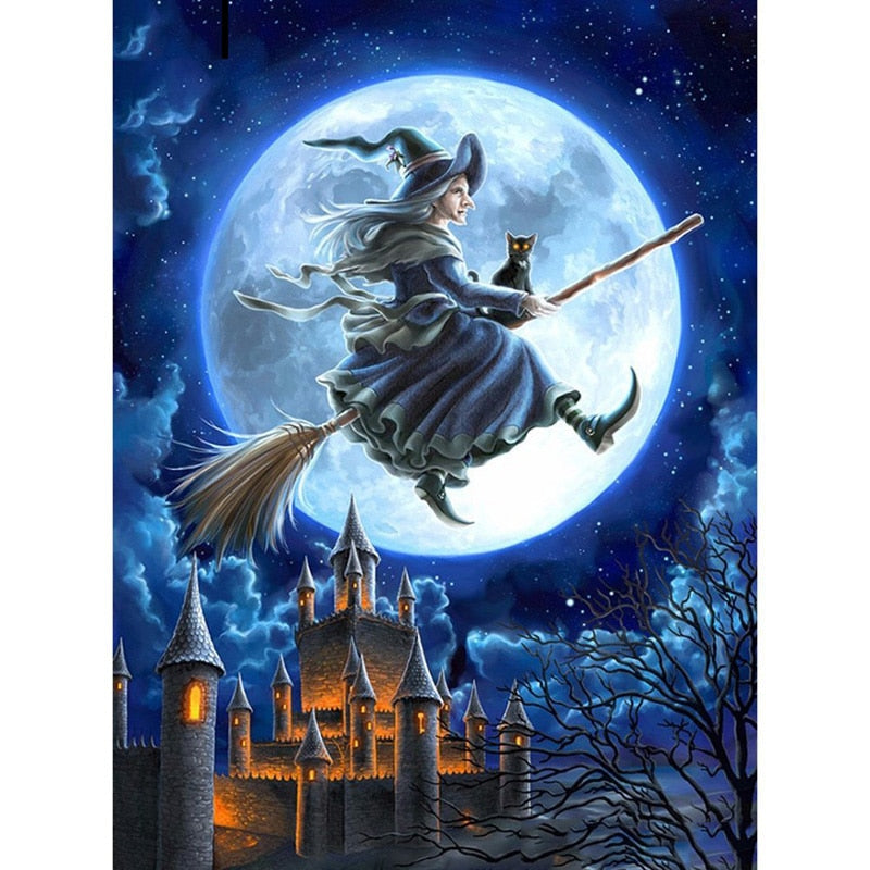 Halloween witch - Diamond Painting Kit