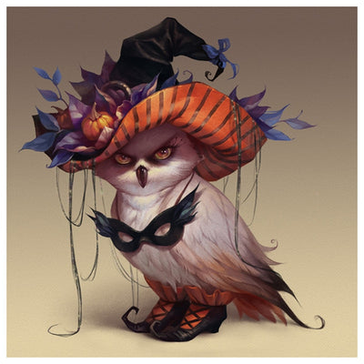 Halloween Wicked Owl - Diamond Painting Kit
