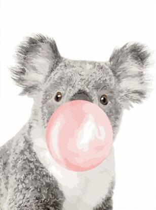 Bubble Gum Koala - Paint By Numbers Kit