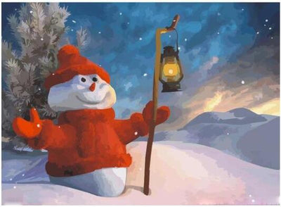 Welcome Christmas Snowman - Paint By Numbers Kit