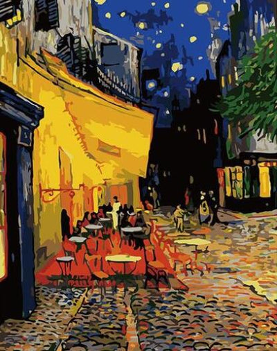Cafe Terrace at Night - Paint By Numbers Kit