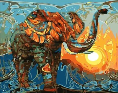 Colorful Elephant - Paint By Numbers Kit