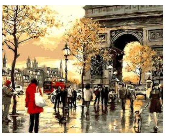 Paris Arc de Triomphe - Paint By Numbers Kit