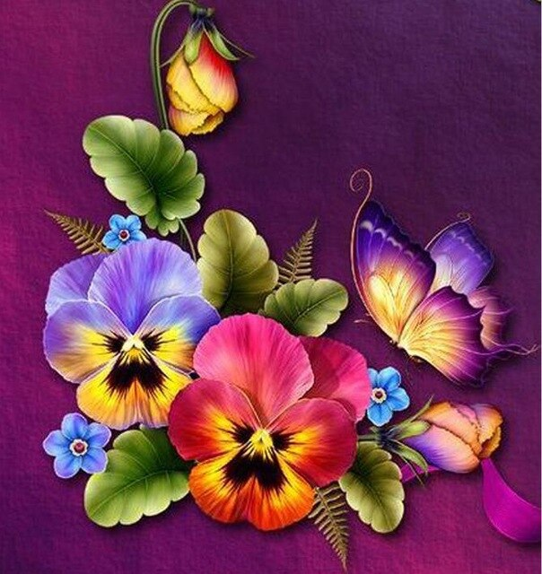 Colorful Flowers - Diamond Painting Kit