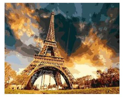 Eiffel Tower Sunset - Paint By Numbers Kit