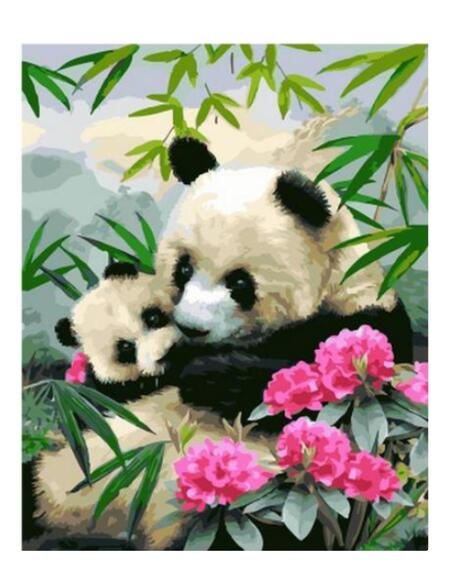 Panda Family - Paint By Numbers Kit