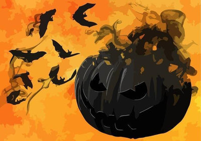 Halloween Pumpkin - Paint By Numbers Kit