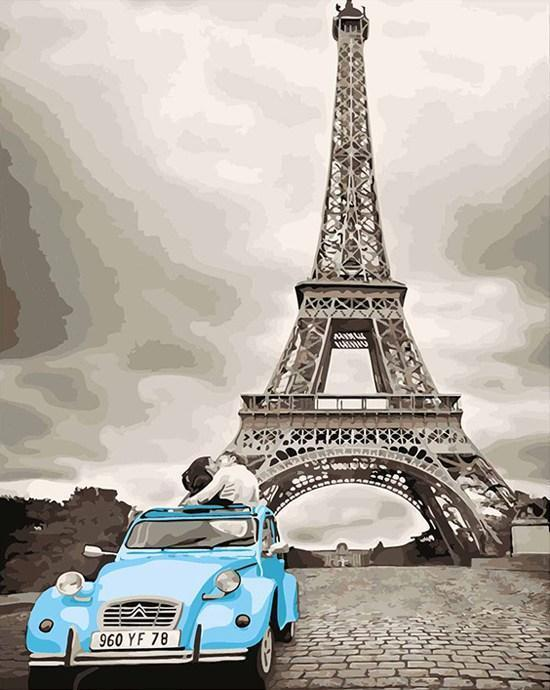 Eiffel Blue - Paint By Numbers Kit