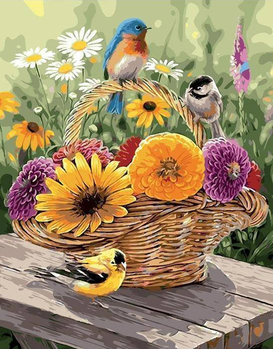 Basket Full of Summer - Paint By Numbers Kit