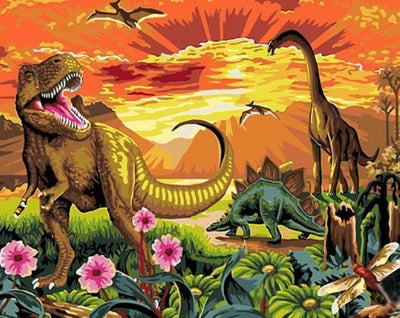 Dinosaurs - Paint By Numbers Kit