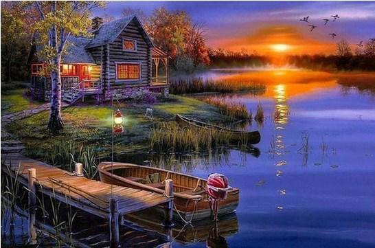 Sunset Lake - Paint By Numbers Kit