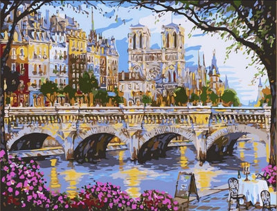 Afternoon By The River Seine - Paint By Numbers Kit