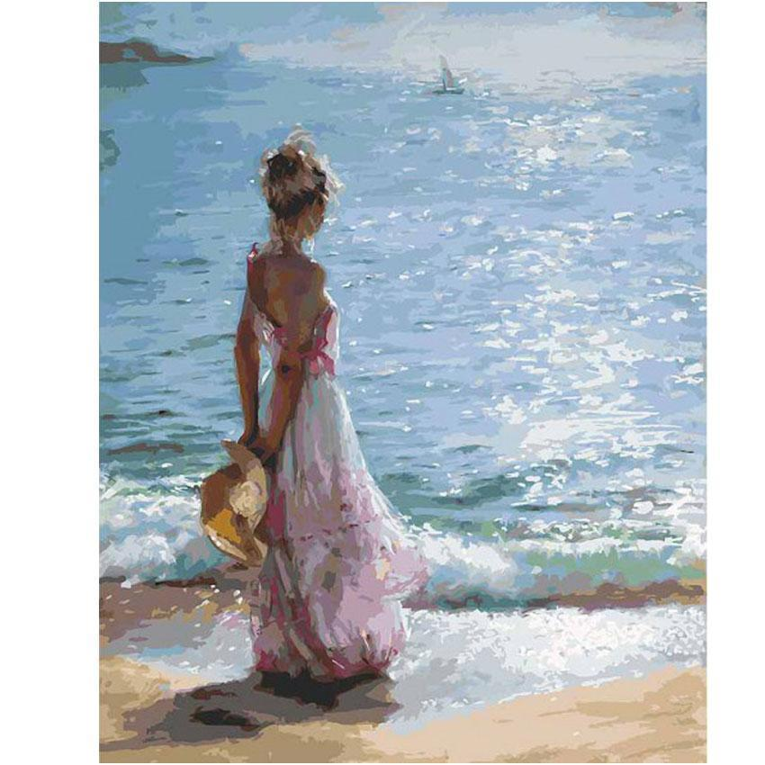 Girl By The Sea- Paint By Numbers Kit