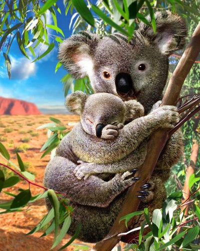Koala Family - Diamond Painting Kit