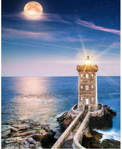 A Lighthouse - Diamond Painting Kit