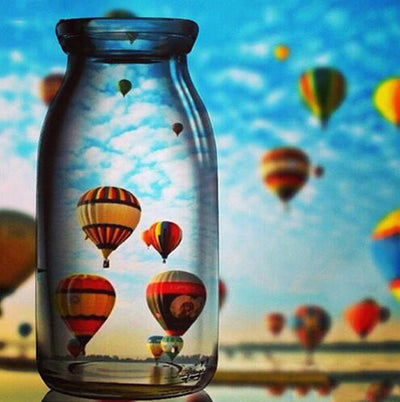 Hot-Air Balloons Jar - Diamond Painting Kit