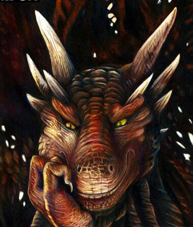 A dragon Think - Diamond Painting Kit