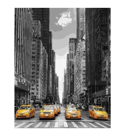 New York Yellow Taxi Cabs - Paint By Numbers Kit