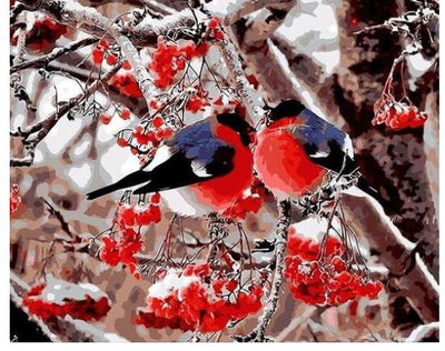 Lovers Birds - Paint by Numbers Kit