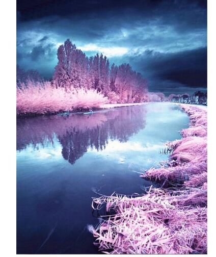 Winter Lavender - Diamond Painting Kit