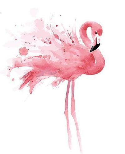 Young Flamingo - Paint By Numbers Kit
