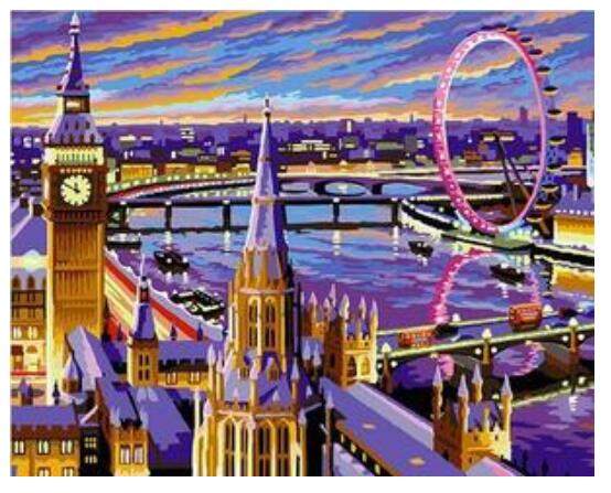 London Eye and Big Ben - Paint By Numbers Kit