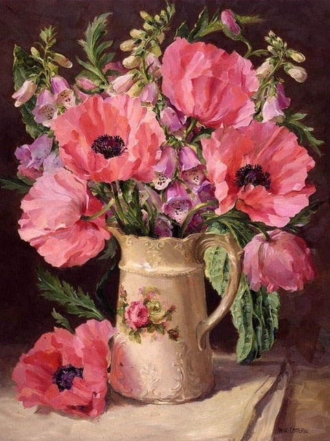 Flowers in Vase 6 - Diamond Painting Kit
