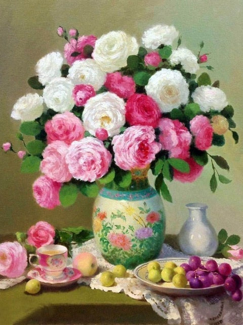 Flowers In Vase 2 - Diamond Painting Kit