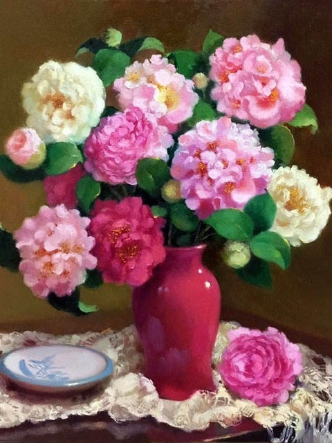 Flowers in Vase 1 - Diamond Painting Kit