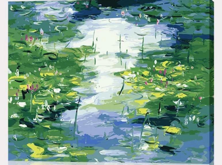 Claude Monet Water Lilies - Paint By Numbers Kit