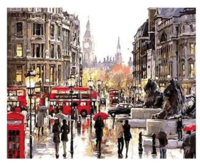 London Street - Paint By Numbers Kit