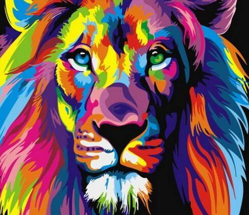 Colorful Lion - Paint By Numbers Kit