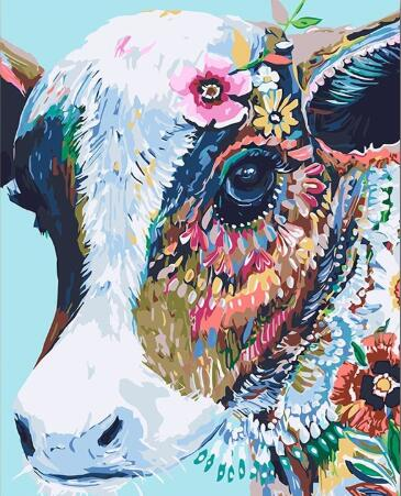 Gypsy Hipster Cow - Paint by Numbers Kit