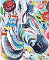 Gypsy Hipster Zebra - Paint By Numbers Kit