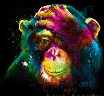 Colorful Orangutan - Paint by Numbers Kit