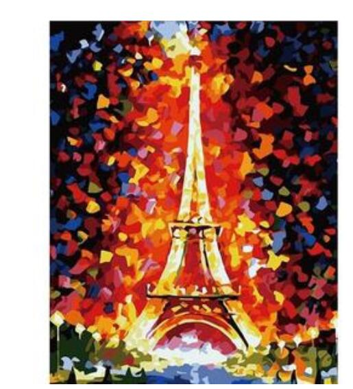 Romantic Paris Eiffel Tower - Paint By Numbers Kit
