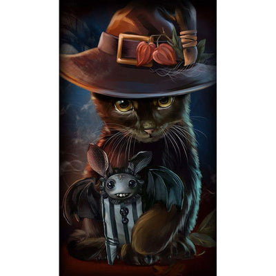 Halloween Cat - Diamond Painting Kit