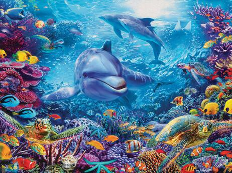 Underwater Dolphins - Diamond Painting Kit