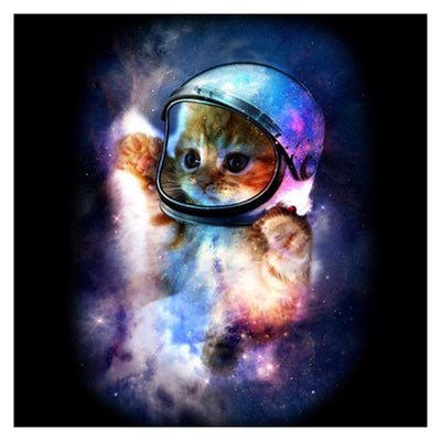 Space Cat - Diamond Painting Kit