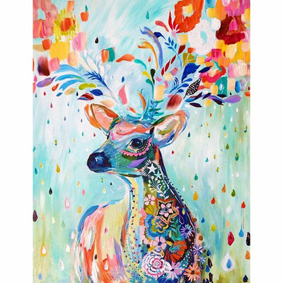 Colorful Reindeer - Diamond Painting Kit