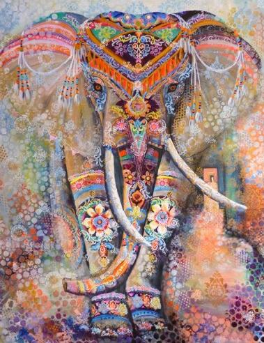 Gypsy Elephant - Diamond Painting Kit