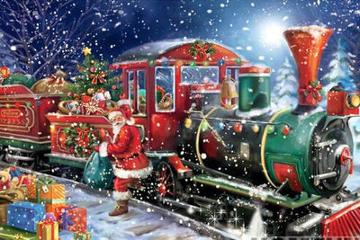 Christmas Train - Diamond Painting Kit