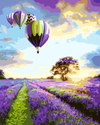 Purple Hot Air Balloons - Paint By Numbers Kit