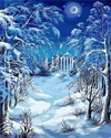 Snowy Garden - Paint By Numbers Kit