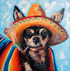 Sombrero Chihuahua - Diamond Painting Kit