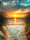 Sunset Over Sand - Diamond Painting Kit